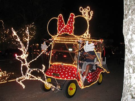 christmas decorated golf carts decorated golf cart best minnie mouse and mice ideas