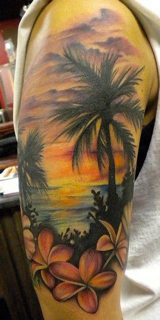 beachy tattoos flower sleeve the best flower tattoos part 3
