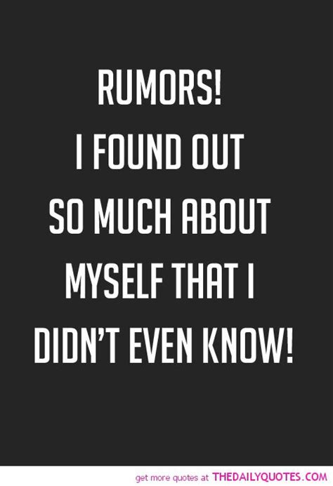 So Much For That Rumor Hollyscoop by Quotes About Rumors Quotesgram