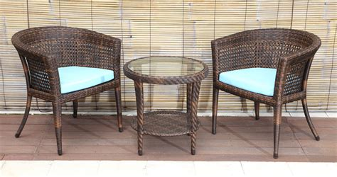 Armchair Table by Prague Rattan Chair Balcony Furniture Dubai