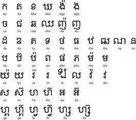 ancient scripts khmer