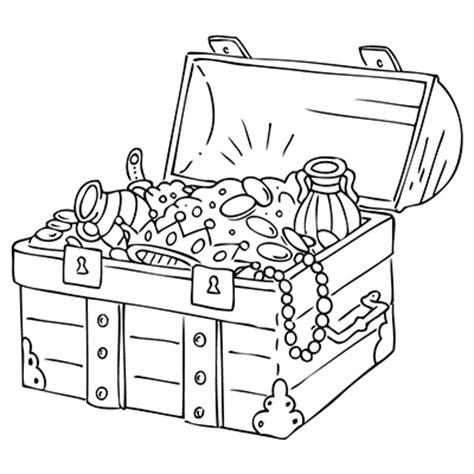 Window Color Marabu Drawing Templates Treasure Chest Treasure Chest Coloring Page