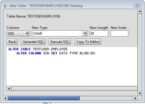 Db2 Change Column Type Of Db2 Database Table Columns Via Change Sql Table Name