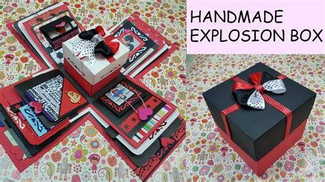 Handmade Gift Box Ideas - gift idea explosion box for friend surprize box birthday