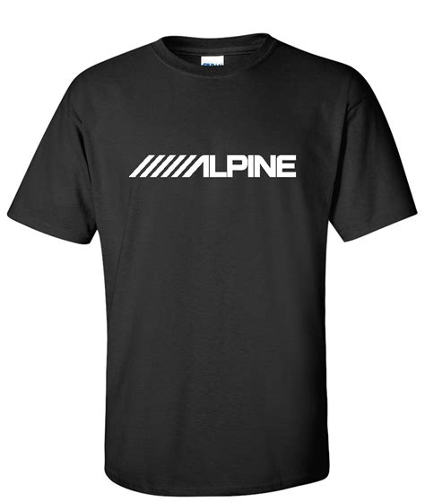 Kaos Alpine alpine electronics car audio logo graphic t shirt