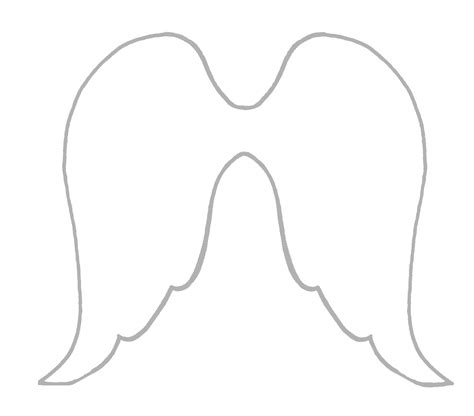 angel wings cut out template www imgkid com the image