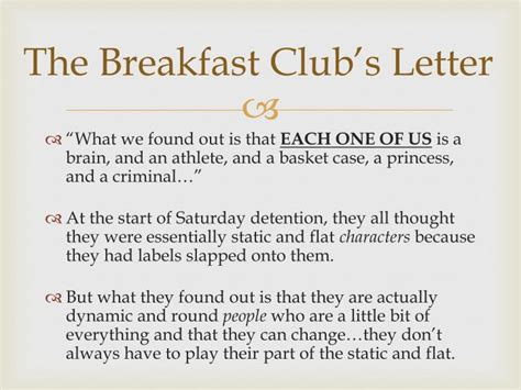 Closing Letter From The Breakfast Club Ppt The Breakfast Club Powerpoint Presentation Id 3176811