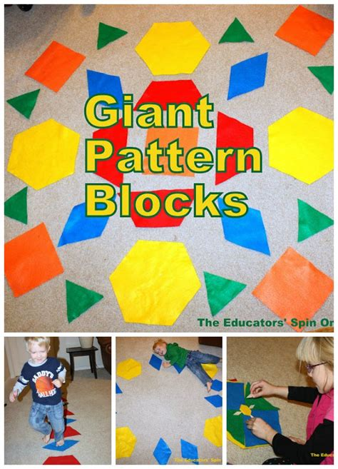 pattern game ideas giant pattern blocks teaching math to tots with movement