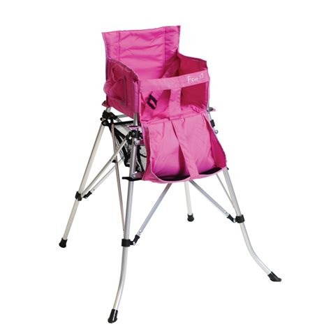 quest childrens pink folding travel high cing chair