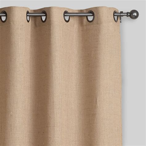 Grommet Top Curtains Hemp Burlap Grommet Top Curtain World Market