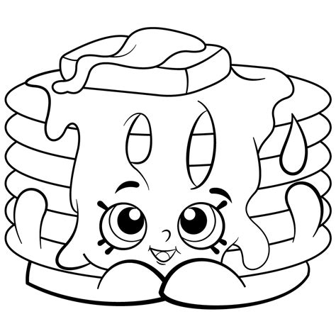 Pancake Stack Free Coloring Page Kids Shopkins Coloring Pages Pictures To Colour For