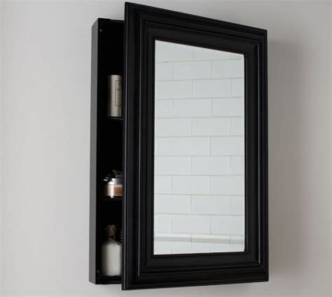 black recessed medicine cabinet page wall mounted medicine cabinet black pottery barn