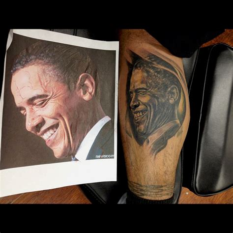 obama tattoo obama with a pictures to pin on tattooskid