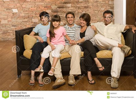 family sofa family on a sofa stock image image of adult baby
