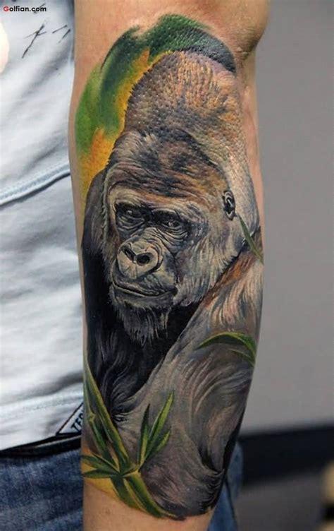 geometric gorilla tattoo 100 watercolor gorilla face tattoo watercolor 257