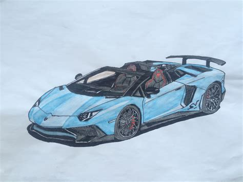 lamborghini aventador sv roadster drawing my drawing of the lamborghini aventador sv roadster