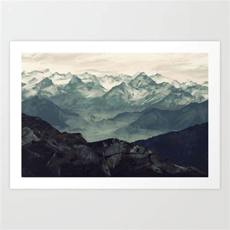 mountain fog art print  micaeladawn society