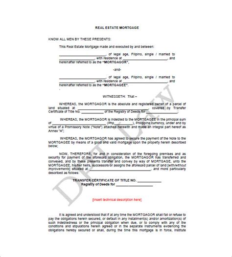 mortgage note template 9 mortgage promissory note free sle exle format free premium templates