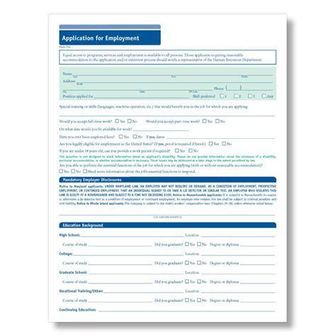 Kj 02 Xl employment application form employment application