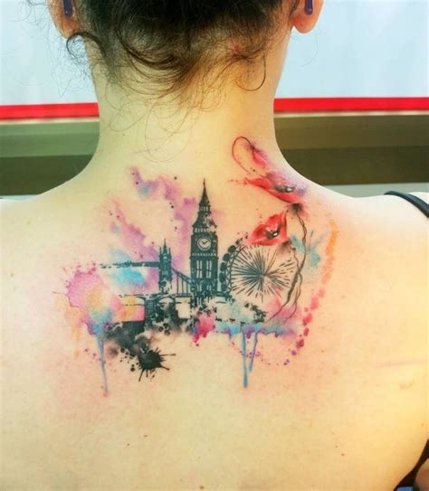 watercolor tattoo new england 25 best ideas about skyline on nyc