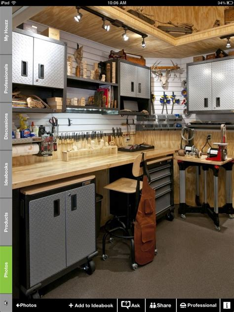 garage workshop designs garage idea workbench setup option purchased work shop ideas pinterest garage workbench