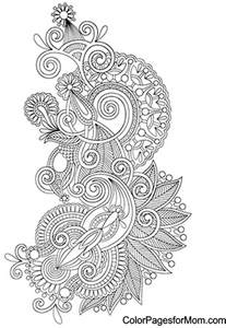 paisley color free paisley turtle coloring pages