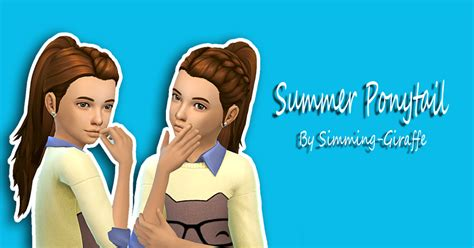 ponytailsims 4 child my sims 4 blog summer ponytail hair for girls by