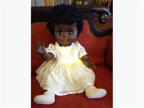 black doll 1960 4u2c black pullan doll 1960 s 19 inches high