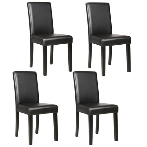 leather dining room chairs set of 4 design dining chair kitchen dinette room