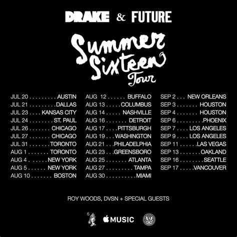 drake uk tour drake announces summer sixteen tour w future ovo fest