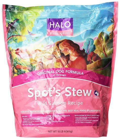 halo puppy food halo spot s stew food salmon recipe 10 pound b ebay