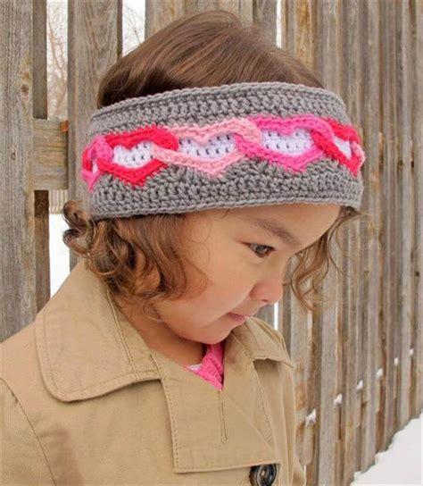 crochet pattern heart headband 25 diy kid s headband for warmer winter days diy to make