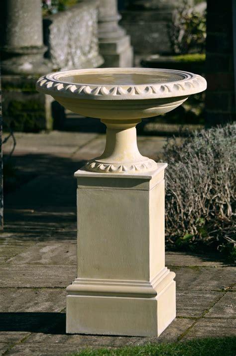 regency bird bath  pedestal haddonstone usa