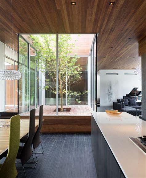 indoor glass courtyard garden