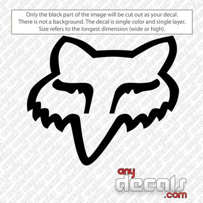 fox motocross stickers motocross car decals fox racing car decal anydecals com