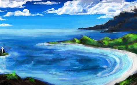 ocean scenery painting wallpapers ocean scenery