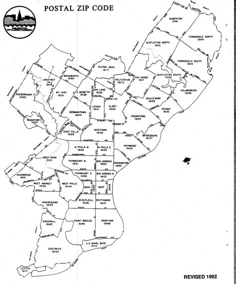 philadelphia county map philadelphia map with zip codes