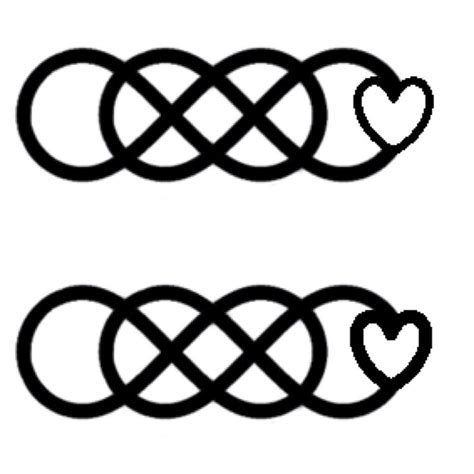 double heart infinity tattoo 17 best ideas about infinity tattoos on