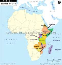 East Africa Map by Countries East Central African Union