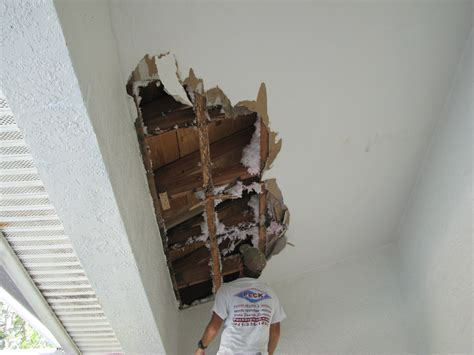 Water Damage Apartment Ceiling by Roof Leak Caused Major Water Damage To This Ceiling In Suntree