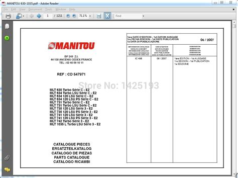 program operator s manual books manitou forklift parts catalogs service manuals and