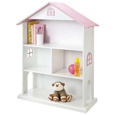 Dollhouse Kids Bookcase White Pink White Dollhouse Bookcase