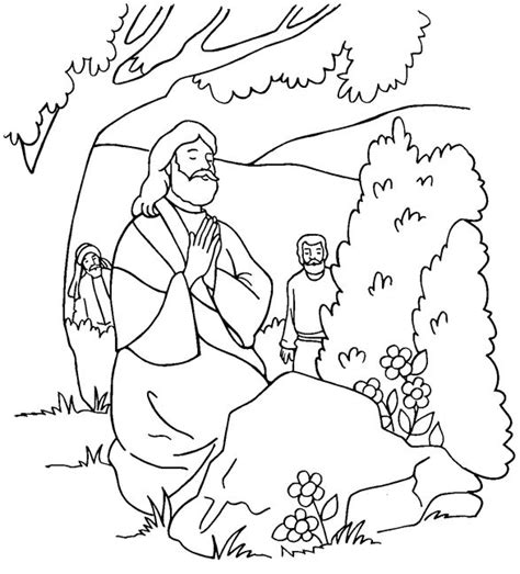 coloring page jesus in gethsemane 8 best images about bible garden of gethsemane on