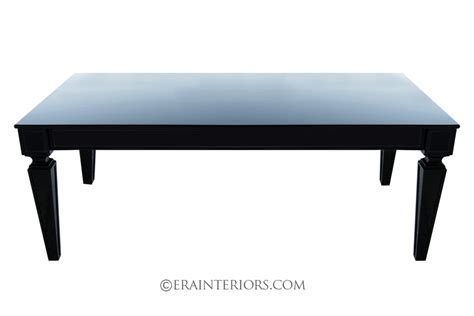 contemporary black laquer dining table era interiors