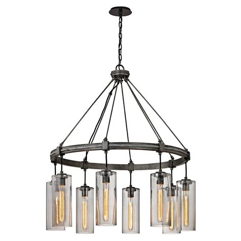Union Lighting Chandeliers Troy Union Square Graphite Eight Light Chandelier On Sale