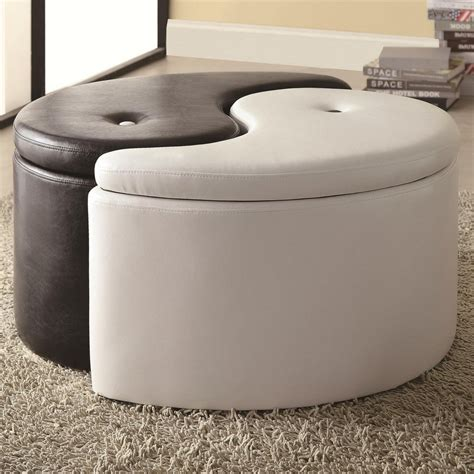 cool storage ottomans the most stylish leather storage ottoman benches for the