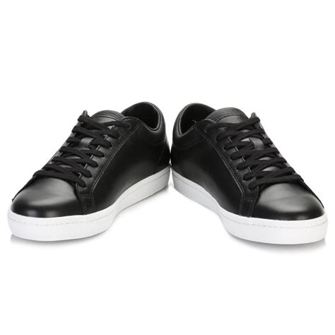 mens sport casual shoes lacoste mens black straightset 116 trainers sport casual