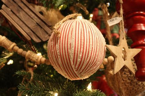 round decorated xmas ball at neimen tree decorating ideas for all kinds of tastes