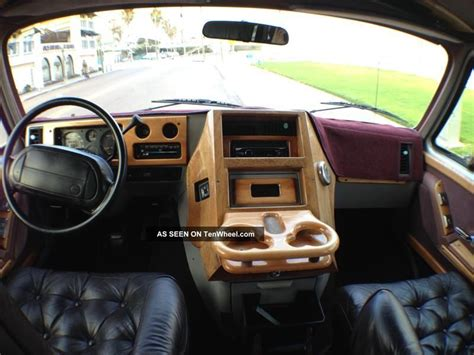 chevy g20 conversion interior 1995 chevy g20 glaval conversion wood interior