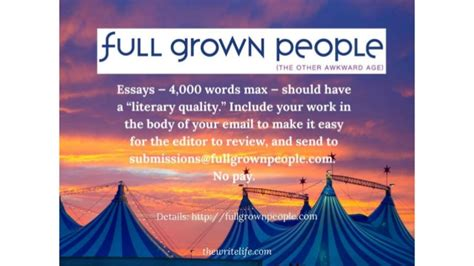 Personal Essays From Magazines by Personal Essay Literary Magazine
